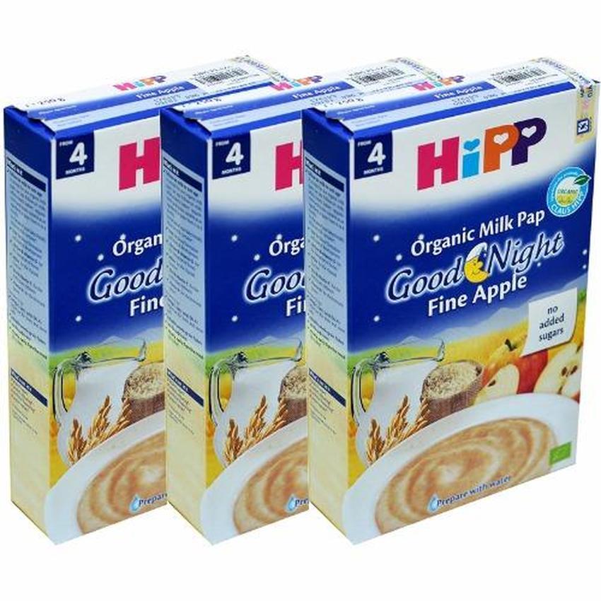 Bộ 3 hộp Bột Hipp ăn dặm táo tây